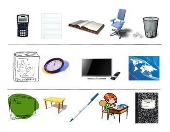 D'Accord 1, Unité 1B vocabulary partner activity (En Classe vocab)