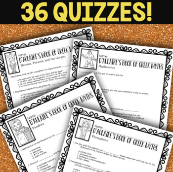 D'Aulaire's Book of Greek Myths - Book Quizzes