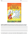 D'Aulaires' Book of Greek Myths Social Studies and ELA Con