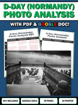 D-Day (Battle of Normandy) - Photo Analysis Centers Activity (Google Included)