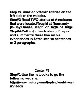D-Day Centers