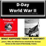 D-Day Differentiated Reading Passage June 6