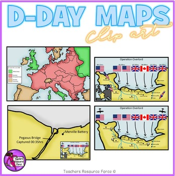 D Day Maps clipart