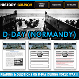 D-Day (Normandy Invasion) during World War II - Reading, Questions and Key
