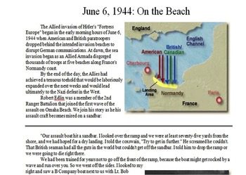 D-Day Primary & Secondary Source Assignment