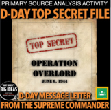 D-Day Secret File Primary Source: World War 2 (WWII) + Distance Learning version
