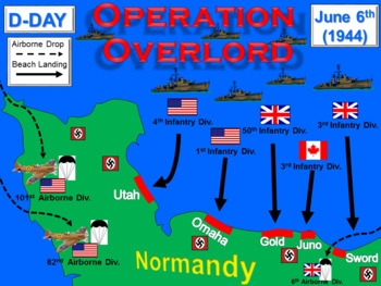 D-Day: The Allied Invasion of Normandy (Operation Overlord) Reading/Animation
