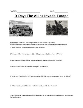 D-Day: The Allies Invade Europe Online Article Analysis - With Key