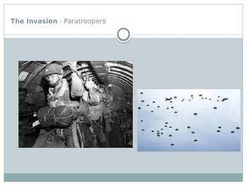 D-Day (World War II) PowerPoint and Fact-sheet.