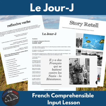 D-Day - comprehensible input lesson for French learners