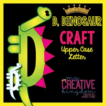 D - Dinosaur Upper Case Alphabet Letter Craft