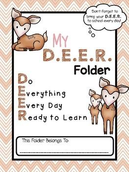 D.E.E.R. Folder Binder Cover