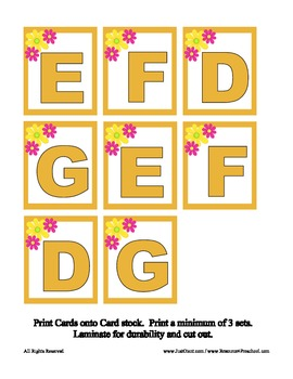 D E F G Race Alphabet Recognition File Folder Board Game - Reading Center