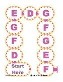 D E F G Race Alphabet Recognition File Folder Board Game -