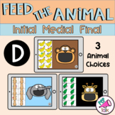 D Feed the Animal Words Initial Medial Final Articulation