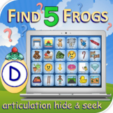 D Find 5 Frogs - Articulation Activity - Teletherapy - Dig