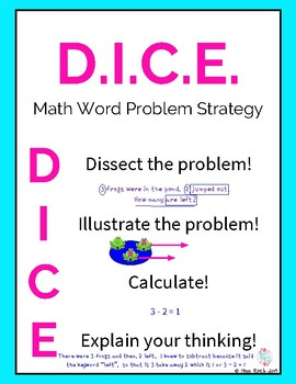 D.I.C.E. Math  Word Problem Strategy