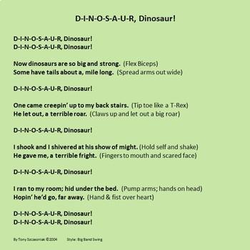 D-I-N-O-S-A-U-R, Dinosaur! - Lyrics