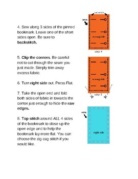 D.I.Y. Fabric Bookmark Instructions for Machine Sewing