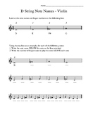 Orchestra D Major Note Name Introductions