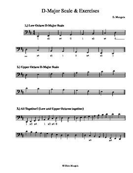 D-Major Scales & Exercises (Cello)