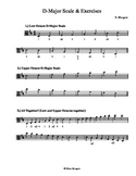 D-Major Scales & Exercises (Viola)