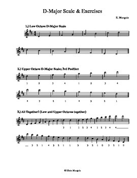 D-Major Scales & Exercises (Violin)