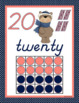 D'NEALIAN MANUSCRIPT NUMBERS POSTERS: Coral & Navy Theme