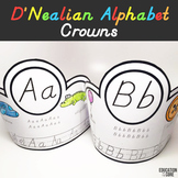Alphabet Activities, D'Nealian Alphabet Crowns