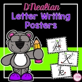 D'Nealian Alphabet Letter Writing Cards