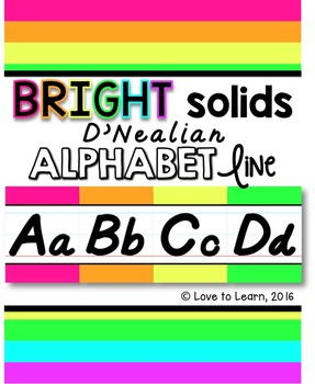 D'Nealian Alphabet Line - Bright Solids