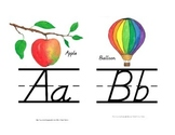 Alphabet Line Small Version {D'Nealian}