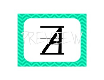 D'Nealian Alphabet Mats