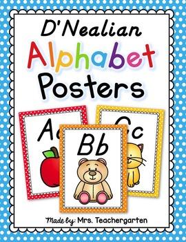 D'Nealian Alphabet Posters