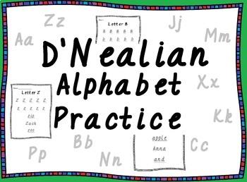D'Nealian Alphabet Practice with Sight Words