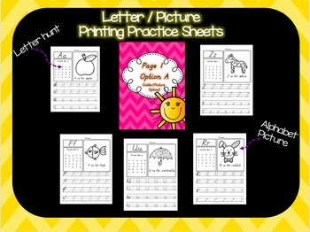 D'Nealian Alphabet Printing Practice