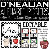D'Nealian Alphabet Strip with American Sign Language {Polk