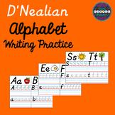 D'Nealian Alphabet Writing Practice