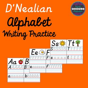 D'Nealian Alphabet Writing Practice