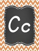 D' Nealian Chevron Chalkboard Alphabet
