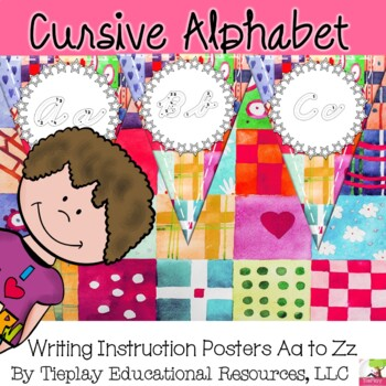 D'Nealian Cursive Alphabet Classroom Learning Decor
