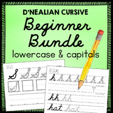 D'Nealian Cursive Bundle - Lower case and Capital Letters Handwriting Practice