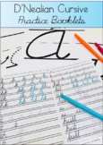 D'Nealian Cursive Handwriting Practice Booklets