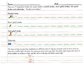 D'Nealian Cursive Sheets