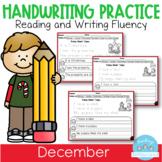 D'Nealian December Handwriting Practice