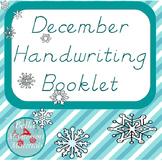 D'Nealian December Writing Practice Word Booklet