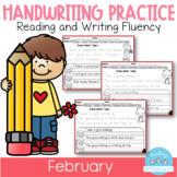 D'Nealian February Handwriting Practice