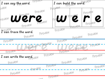 D'Nealian First Grade Dolch Sight Word Pack
