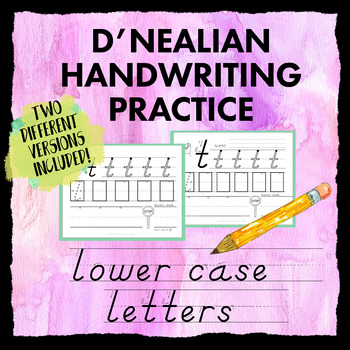 d 39 nealian handwriting lower case practice worksheets dnealian print style. Black Bedroom Furniture Sets. Home Design Ideas