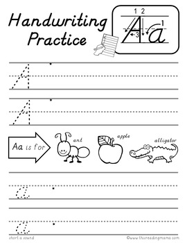 D'Nealian Handwriting Pages